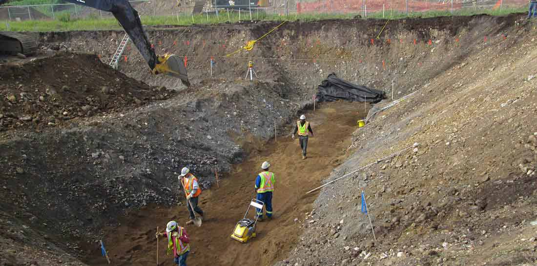 Excavation For Seven Process Lines