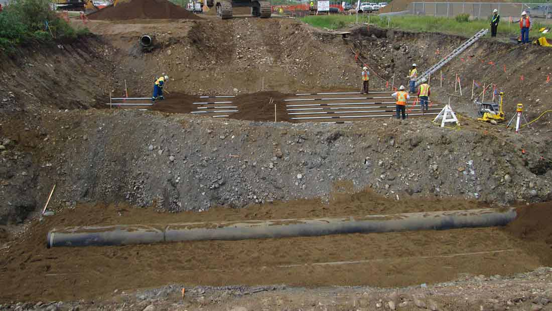 Excavation For FireWater And Pond Discharge Lines
