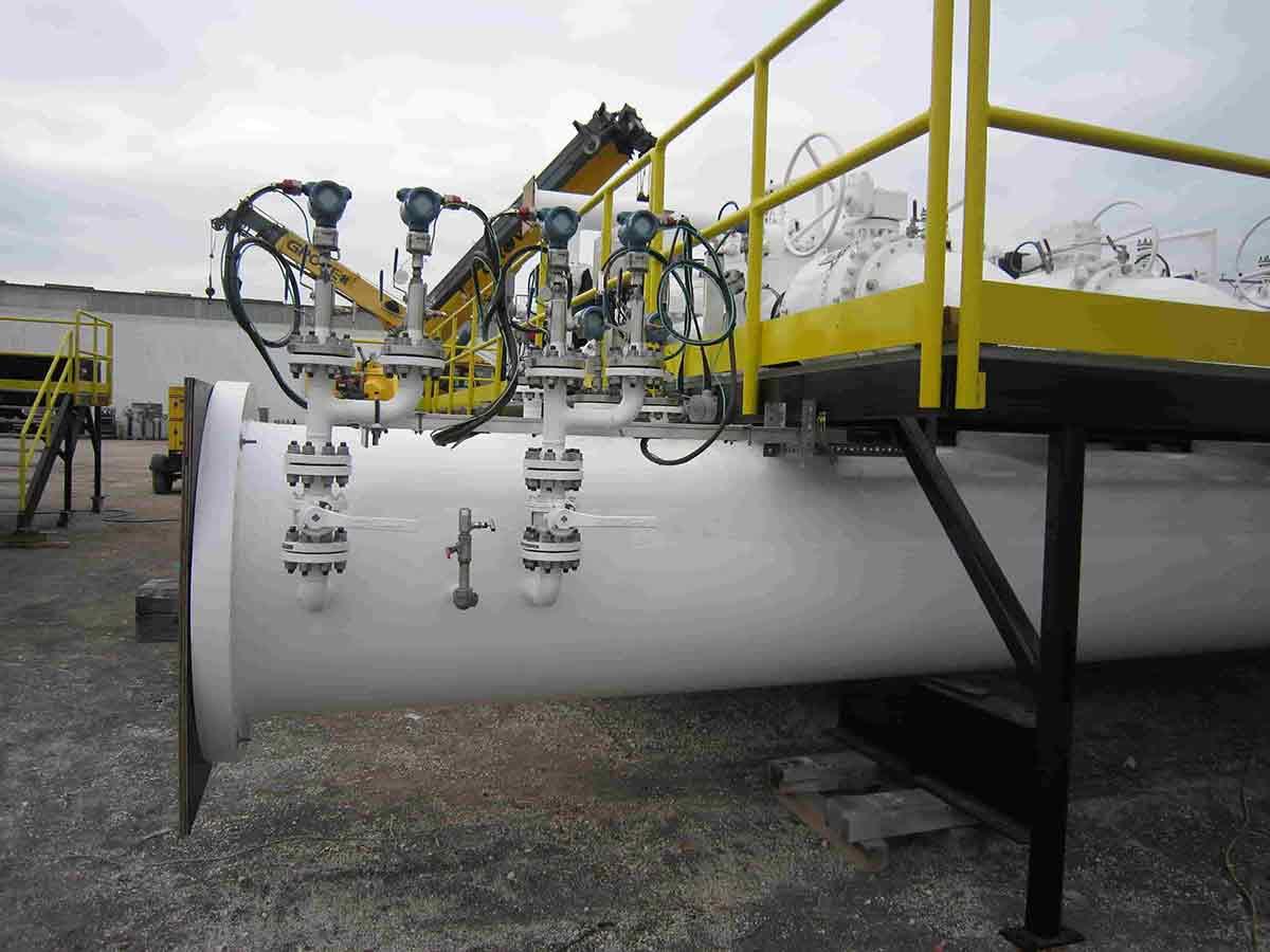 Lare scale pipeline transfer system