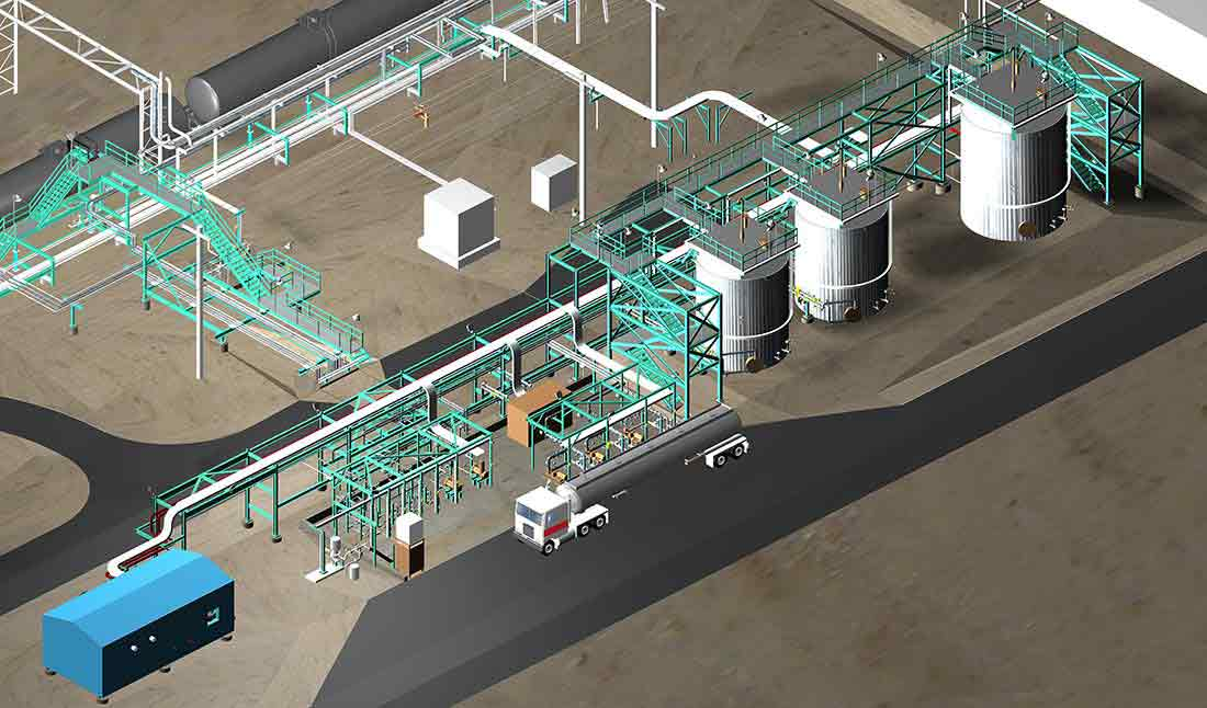 Diesel Chemical Additive Facility 3D Model